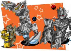 Jazz v. Megatron-Breakdance xD by BumblebeeSam