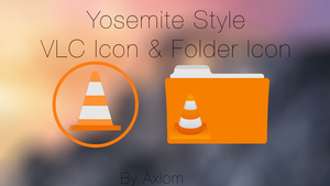 New Yosemite VLC Icon And VLC Media Folder Icon by Axiom-Apps