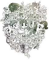 MLP THE Group Collage by Ste-C