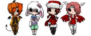 Holiday Adopts- OPEN by OtackoonWarriorAdopt