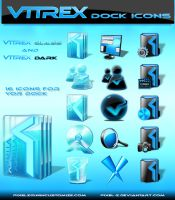 VITREX Glass and Dark icons by pixel-z