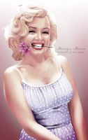 Marilyn Monroe Color by dannykojima