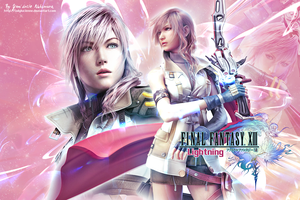 FFXIII Lightning wallpaper by ladylucienne