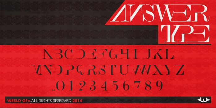 aNSWER TYPE Typeface Font by Weslo11