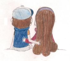 Dipper and Mabel by RosieMe