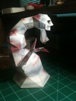 Dead Hand papercraft side view by Dreamparacite