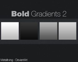Bold Gradients For Photoshop N2 by MetalIrving