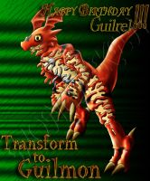 Transform to Guilmon-colored by monchiken