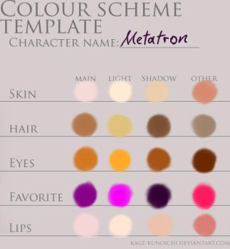 Metatron Colour chart by Semiramis-Audron