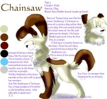 Character referance: Chainsaw by xAshleyMx