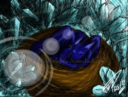 .The Dragon and The Crystal Cave. by MamuEmu