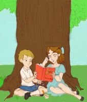 Wendy and Christopher Robin by DancinBelle