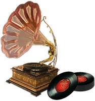 Antique Phonograph by ScrapBee