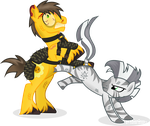 Xenith Vs Daff by Vector-Brony