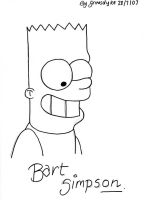 Bart Simpson by grimsdyke