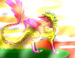 The Sunset Dragon by Etheral-Fox