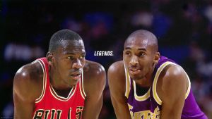 Michael Jordan and Kobe Bryant 'Legends' Wallpaper by rhurst