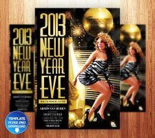 2013 New Year Eve Flyer Template by Grandelelo