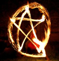 Fire Pentagram II by MD-Arts