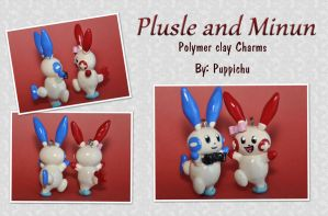 Plusle and Minun Couple Charms by puppichu