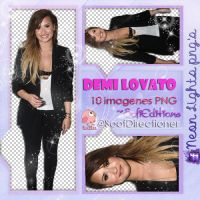 DemiLovato2014- Neon Lights PNG'S by SoffMalik
