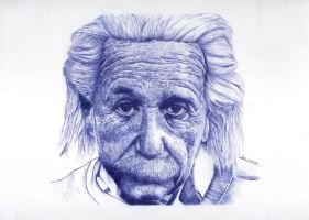 Albert Einstein - Biro by Flotter