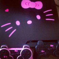 Hello Kitty Ps3 by DinoSizeCupcake