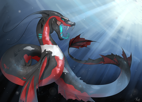 Yveltal Sea Serpent by Visoris