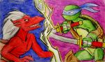 Brooklyn vs Leonardo by HollyRoseBriar