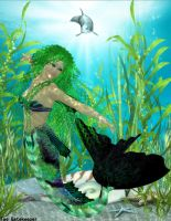 Emerald Mermaid by faegatekeeper