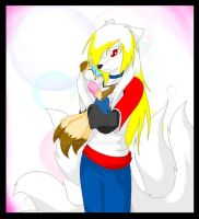 Kia and her baby .:remake:. by KiaTheWolf