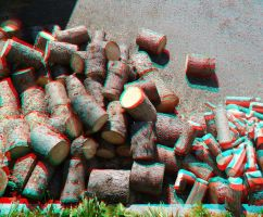 Timber (anaglyph) by EliteJohan