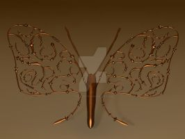 Steampunk Butterfly I by kratzdistel