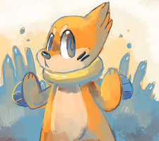 Buizel by sweating