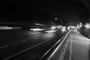 Highway Black and White #1 by Onigiripencil