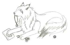 Wiccan Wolfie by Masochistic-Wolfie