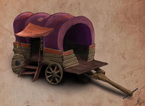 Medieval carriage by Skyshi