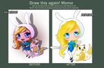 (DrawThisAgain) Fionna and Cake Chibis by MountainOfFeathers