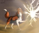 Sand vs. lightning [800th watcher] by Saiccu