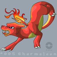 005: Charmeleon by pokehasu
