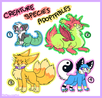 Points Creature ADOPTABLES - Closed by pukukurin
