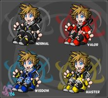 Kingdom Hearts- Sora Stuffies by cartoonist