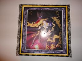 Lilith witch anime girl 12 x 12 scrapbook page by butterflypromqueen