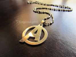 Assemble! - Avengers Inspired Necklace by thingamajik