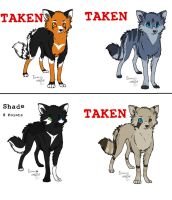 Adoptables-Foxes by Aika-cat