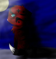 Axel standing in the moonlight by Animallover08