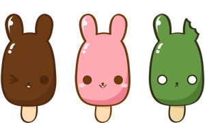 Popsicle bunnies by Yume-fran