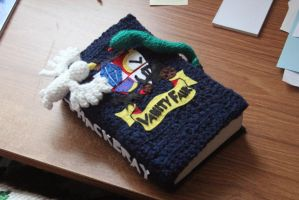 Vanity Fair Crocheted Bookcover by thanxforthefish