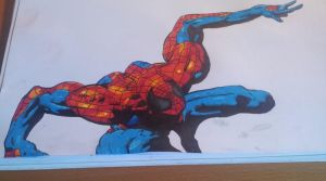 Spiderman Colored by Krayzieee