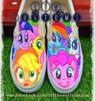 My little pony custom vans by VeryBadThing